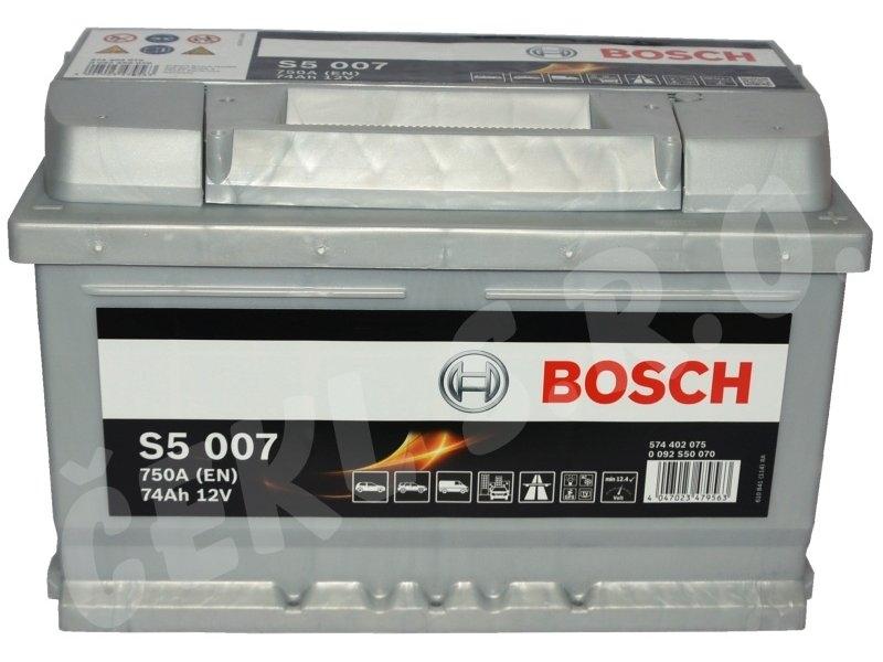 Acumulator auto BOSCH S5 74Ah/750A