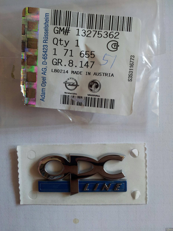 Emblema Opc Line Opel Astra H Originala Gm