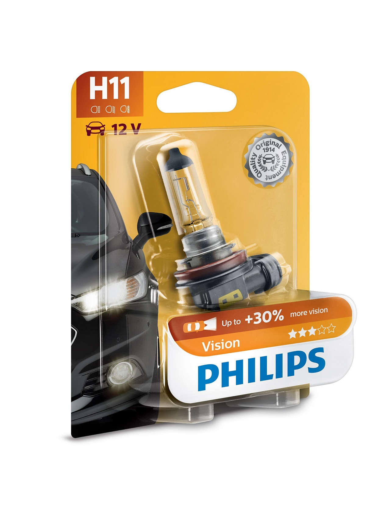 Bec Philips H11 Vision 12V 55W Accesorii Opel GM