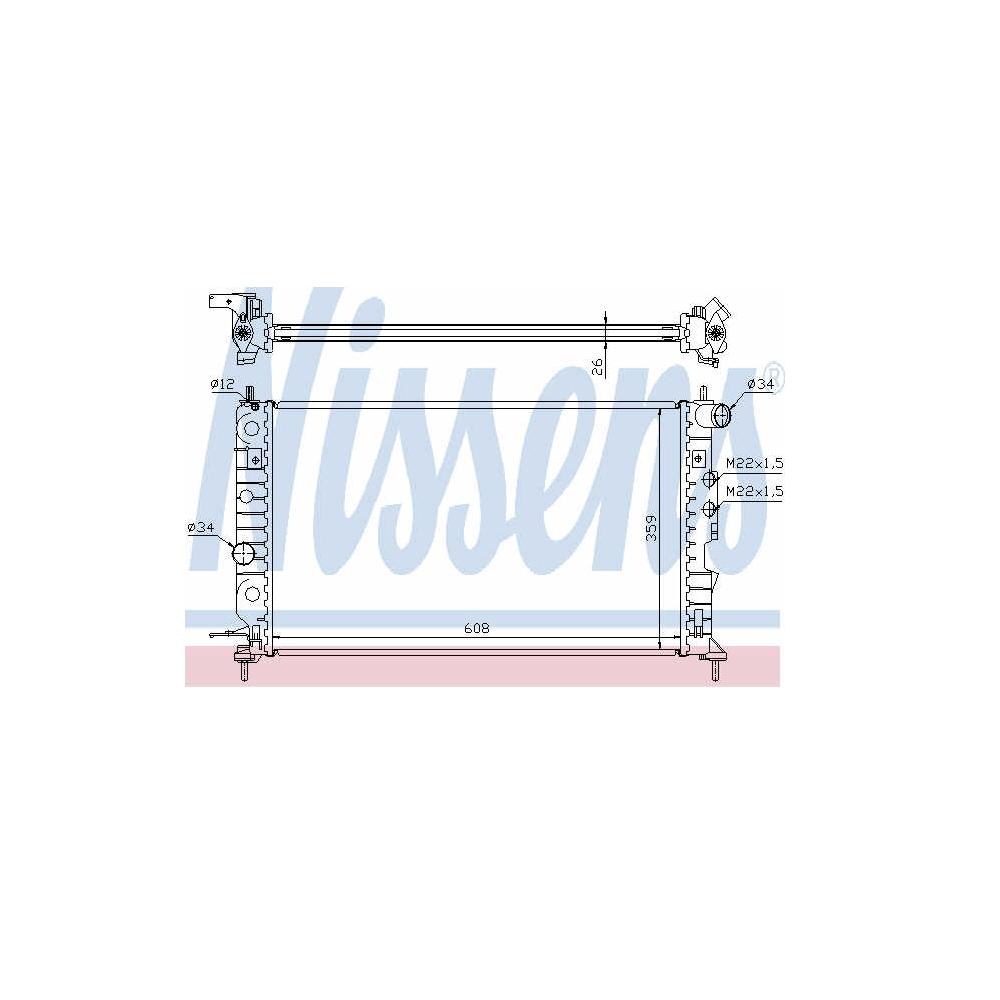 Radiator racire motor Opel Vectra B Z18XE NISSENS