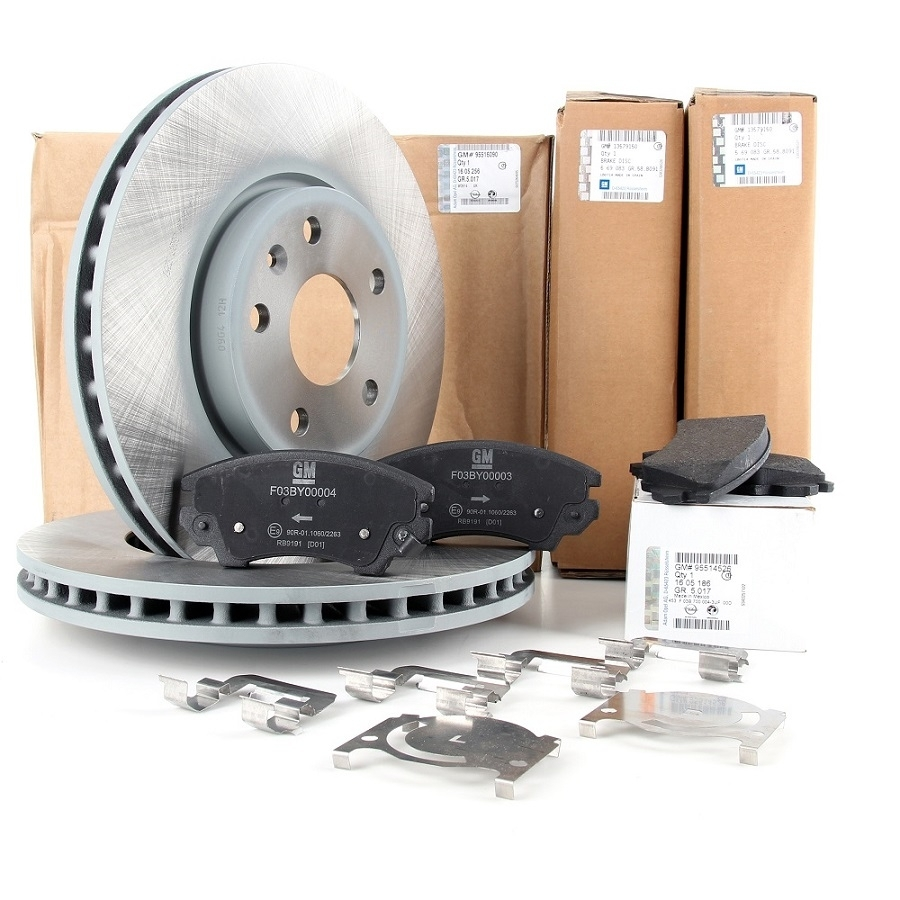 Kit discuri si placute Opel Astra H 4 prezoane GM