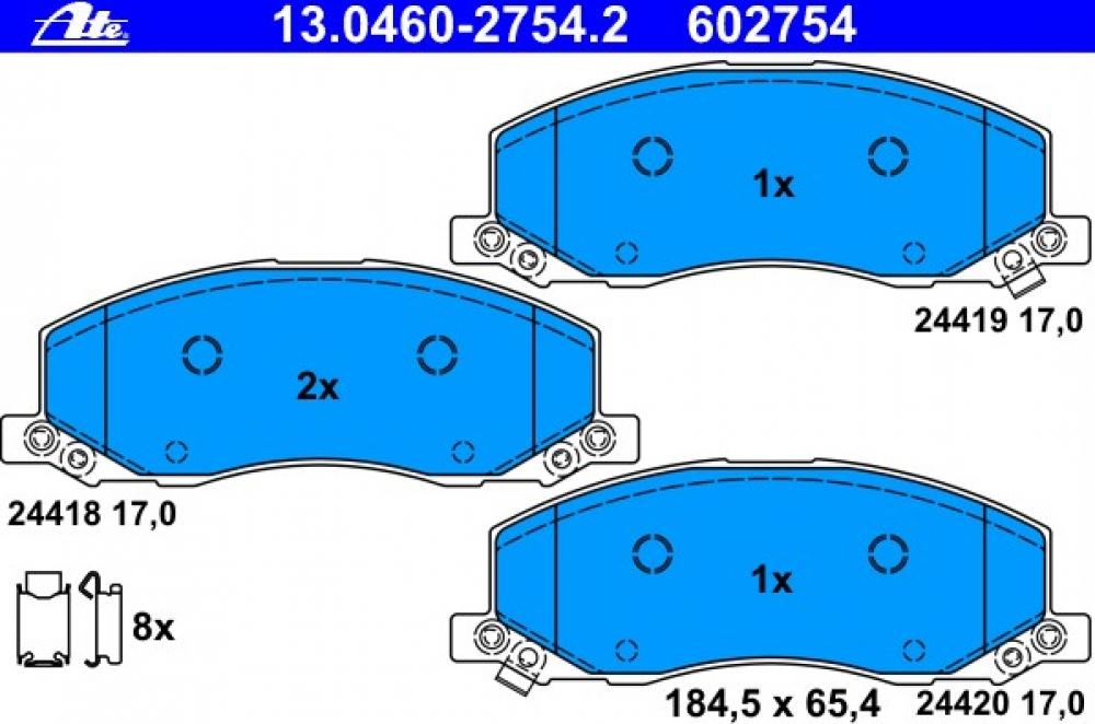 Placute frana fata Insignia J62 producator ATE
