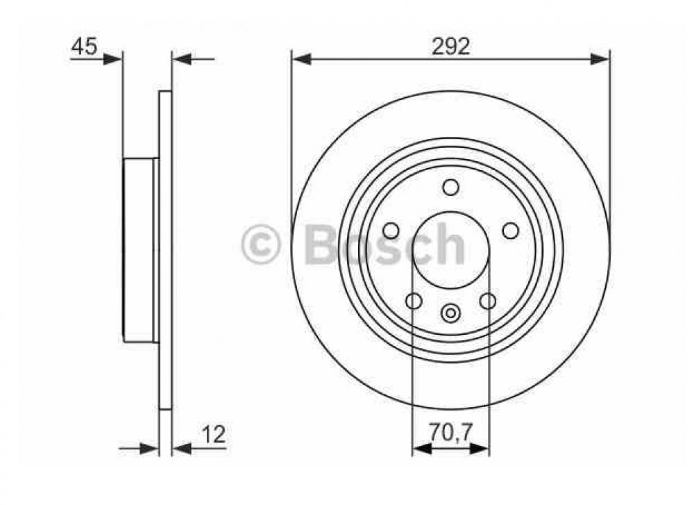 Set disc frana spate Opel Astra J BOSCH