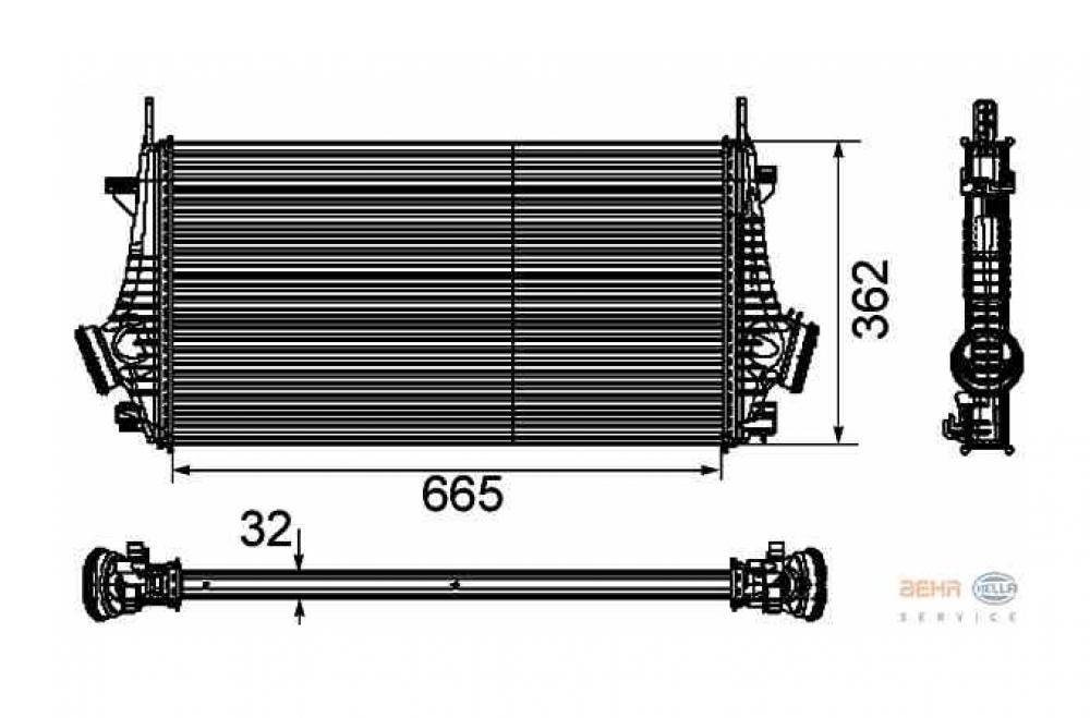 Radiator intercooler Opel Insignia producator BEHR