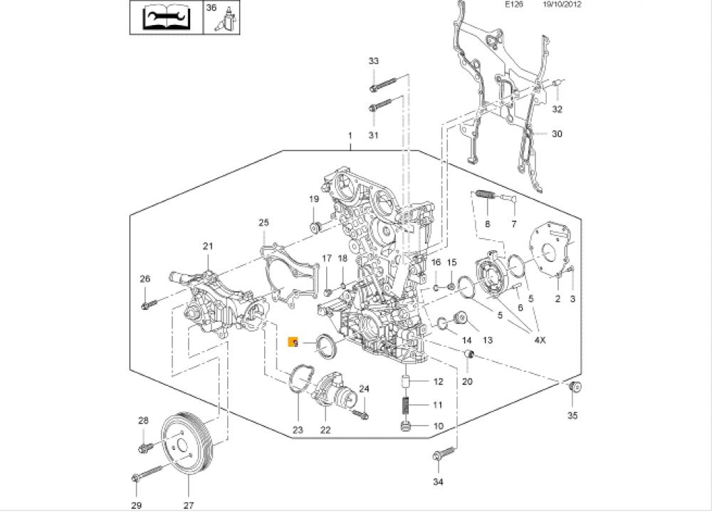 Simering pompa de ulei Opel Corsa C, Corsa D, Astra G GM