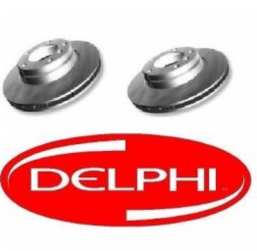 Set Discuri Frana Fata 284mm Delphi Corsa D