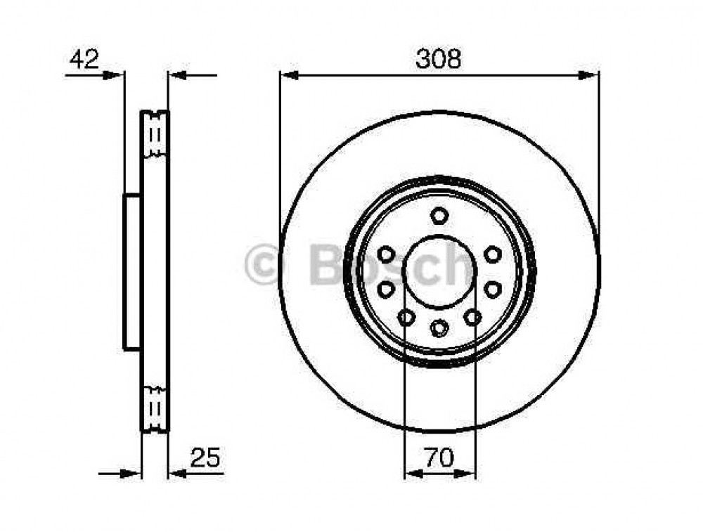 Set Discuri Frana Opel Astra H Producator Bosch
