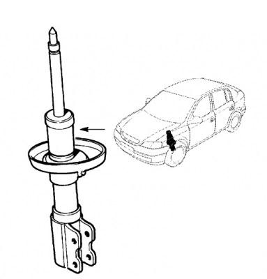 Amortizor dreapta fata Opel Astra G original GM