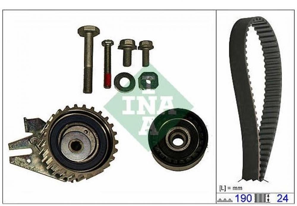 Kit distributie Z19DT INA pentru Opel Zafira B, Astra H, Vectra C, Signum