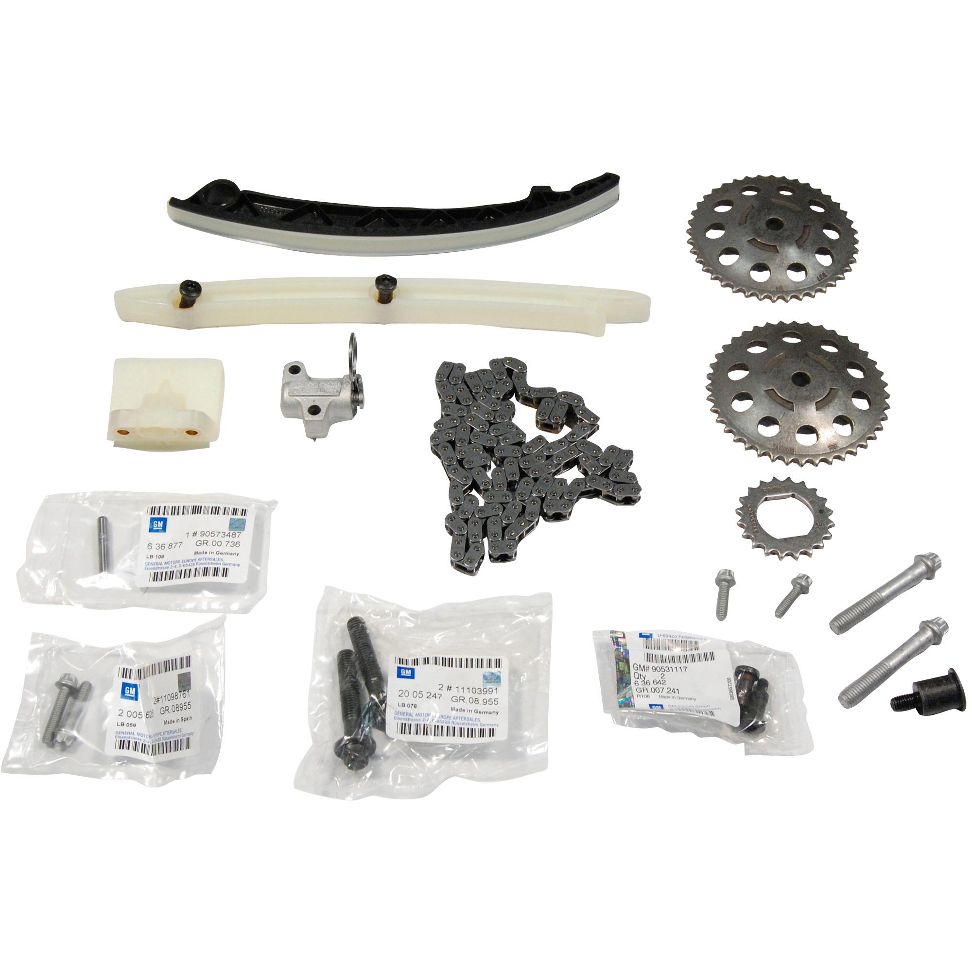 Kit distributie lant Opel Astra H, Corsa C, Meriva, Tigra B, Astra G, Agila A GM