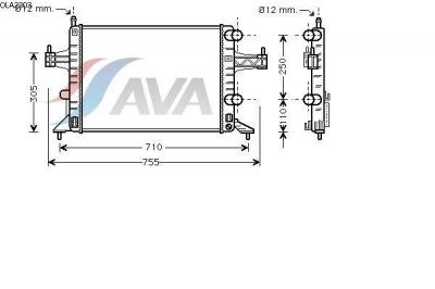 Radiator racire apa Opel Corsa C producator AVA