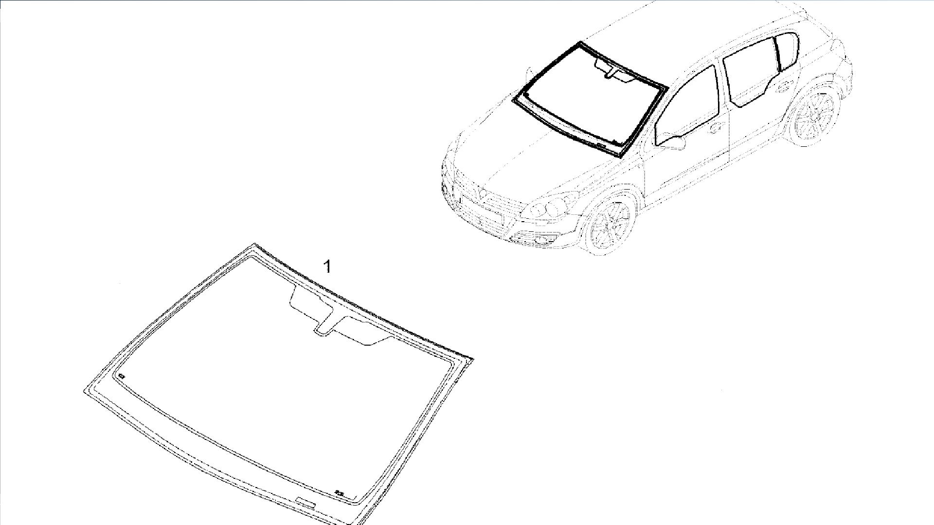 Parbriz Opel Astra H fara senzor Polonia