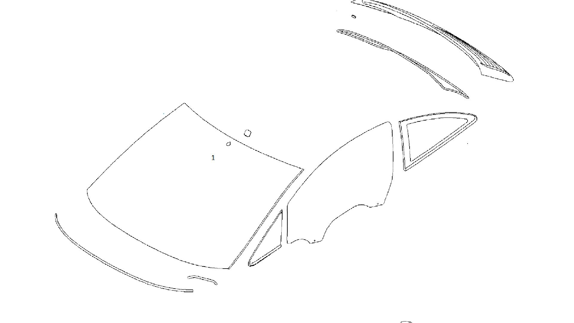 Parbriz Opel Corsa D cu senzor Germania