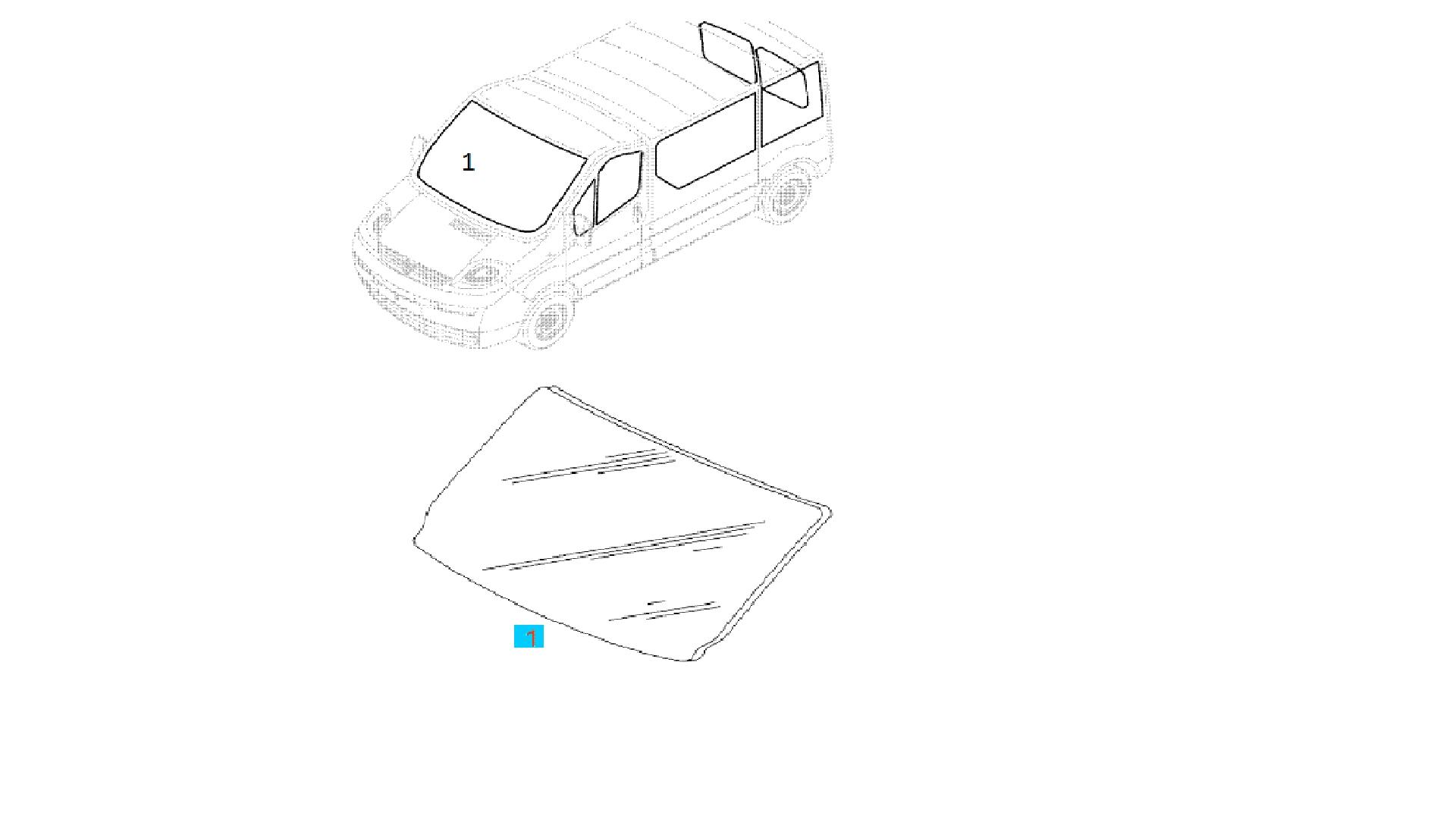 Parbriz Opel Vivaro fara senzor Germania