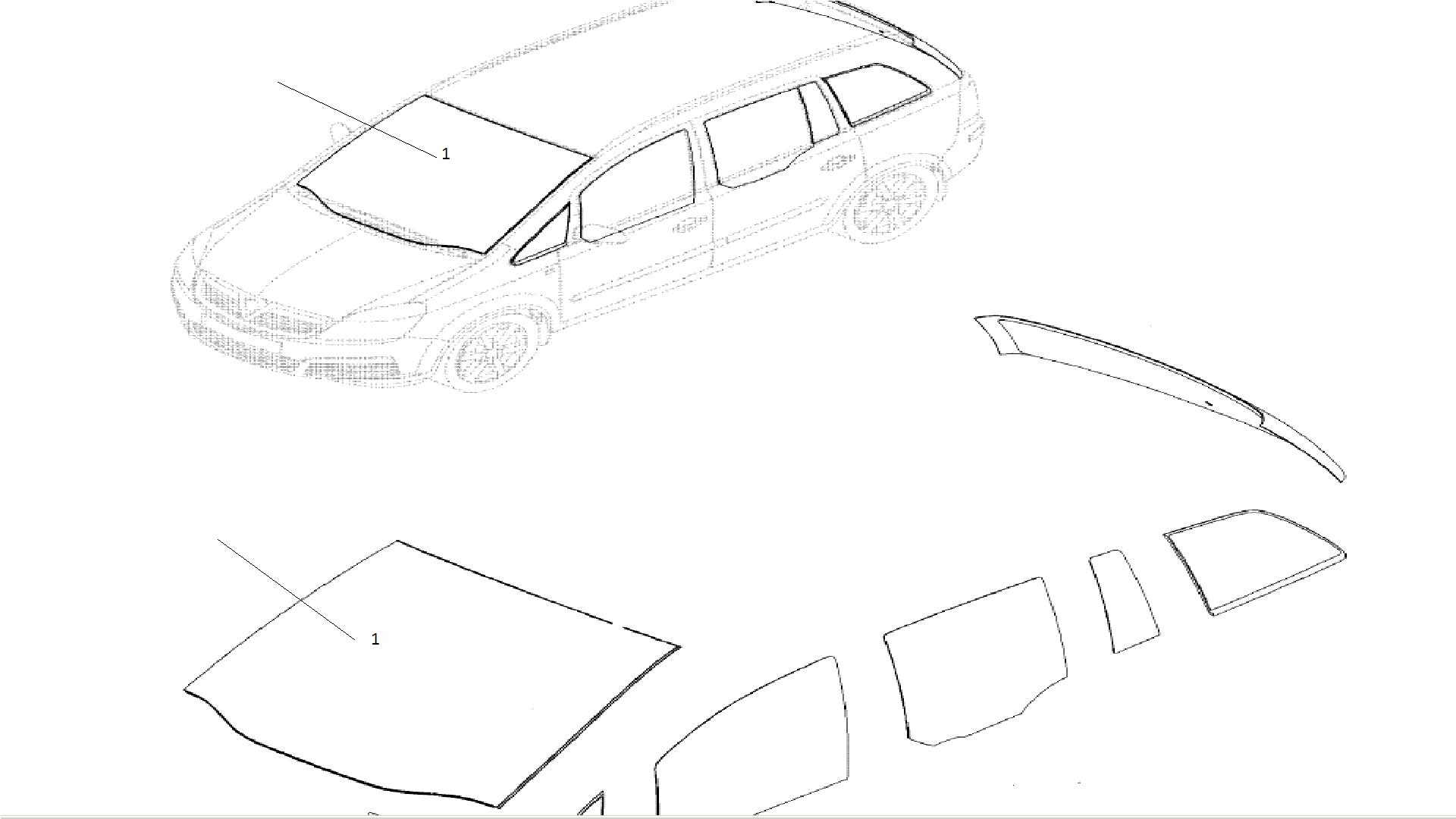 Parbriz Opel Zafira B cu senzor Germania