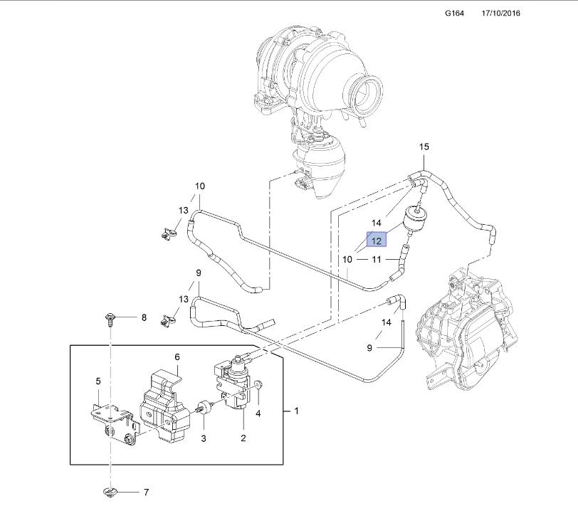 Rezervor vacuum electrovalva turbo GM