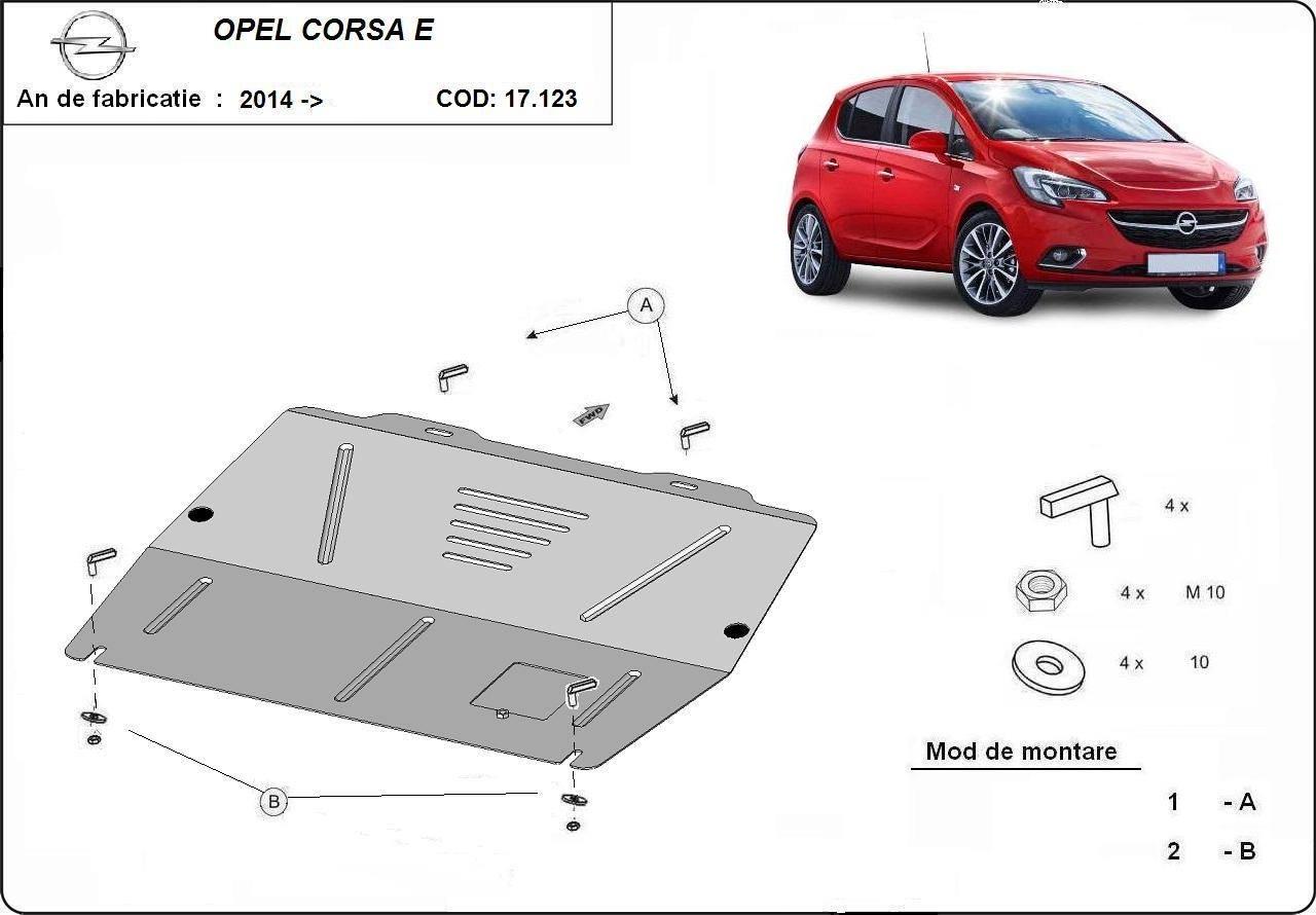 Scut motor metalic Opel Corsa E fabricat dupa 2014