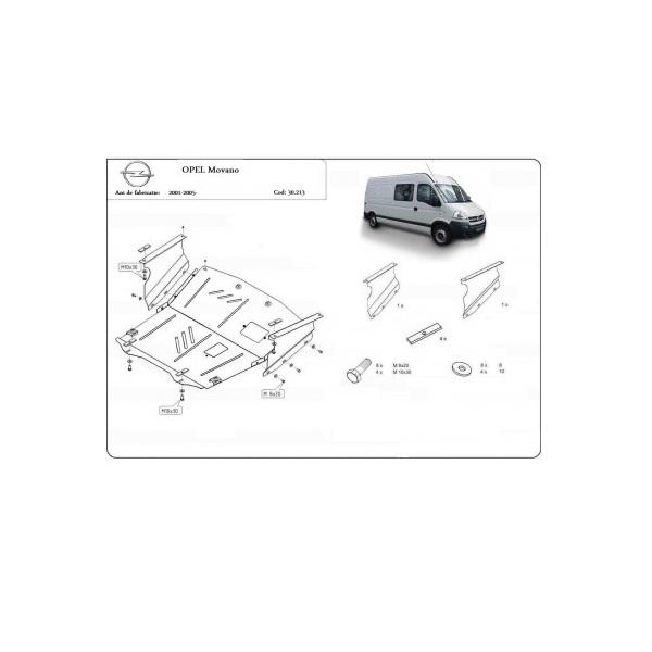 Scut motor metalic Opel Movano 2001 - 2005