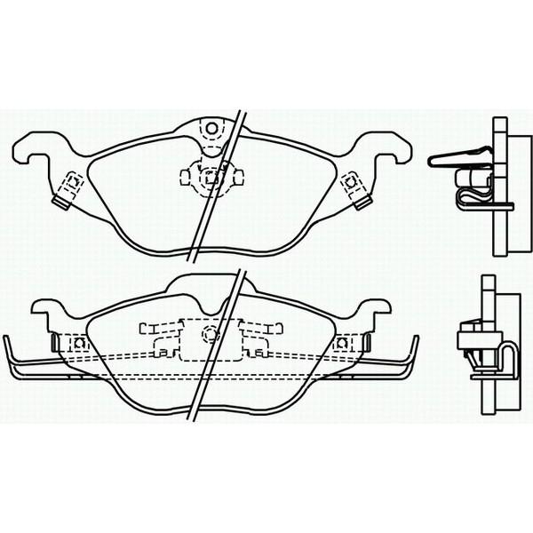 Placute frana fata Opel Astra G Textar