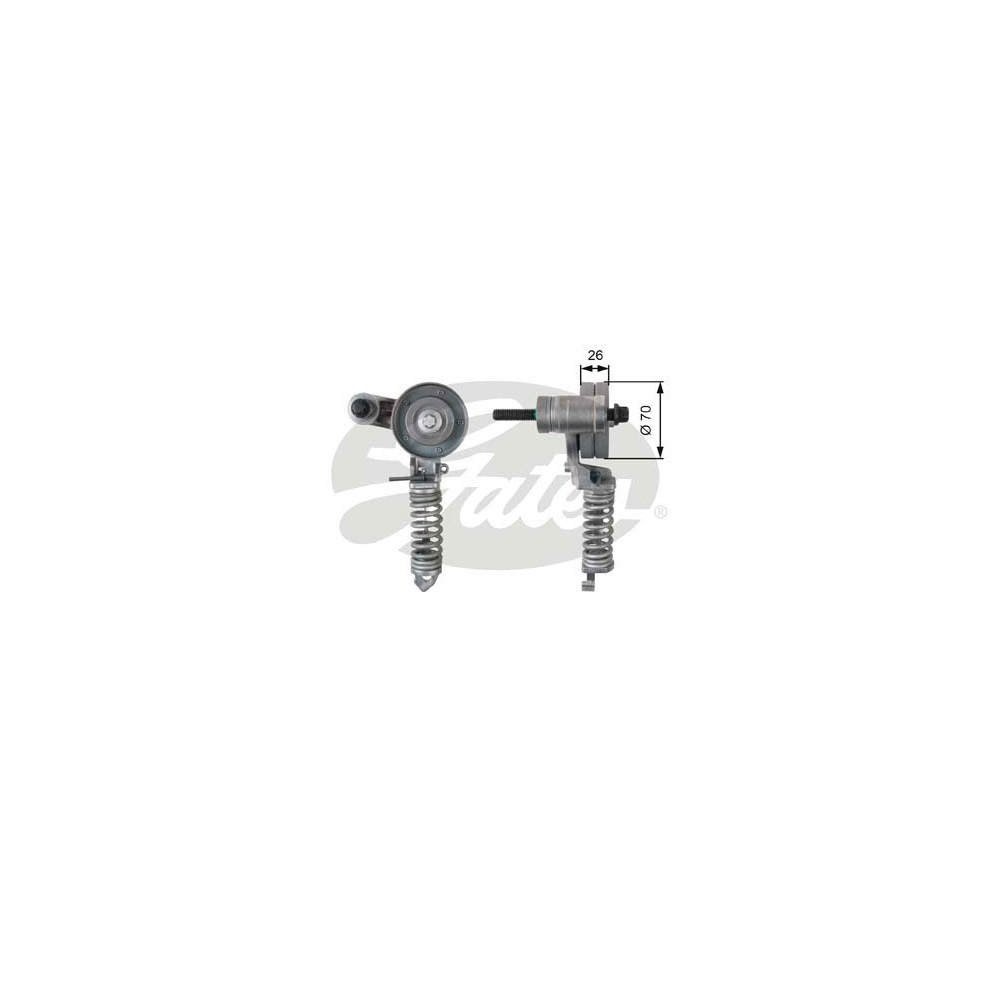 Rola tensionare curea alternator Opel Astra H Z14XEP producator GATES