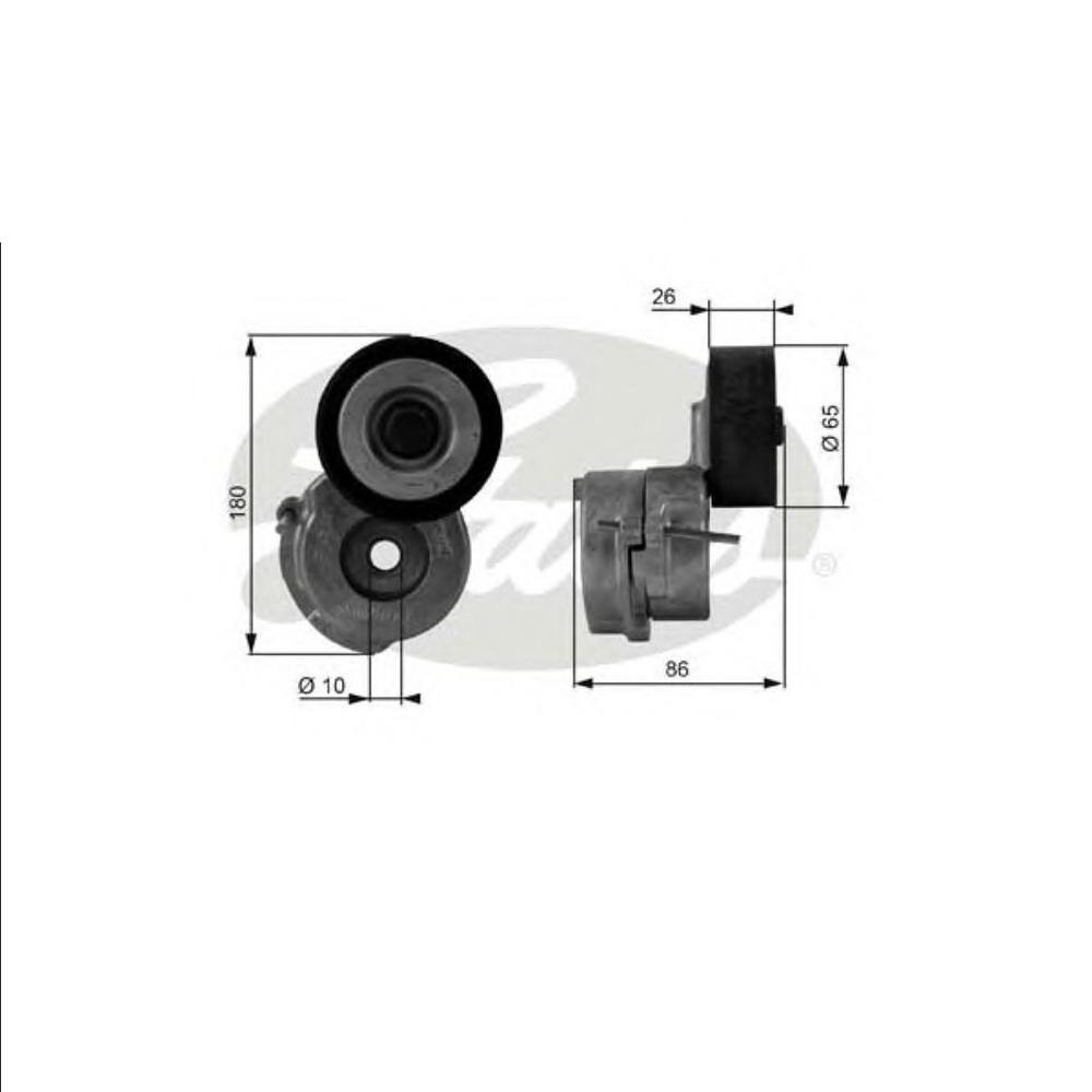 Rola intinzator curea transmisie Opel Astra J GATES