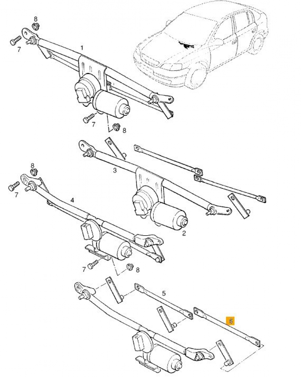 Tija Ansamblu Stergator Opel Astra G Gm Partea Stanga (sofer)