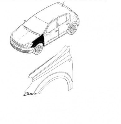 Aripa dreapta fata Opel Astra H GM