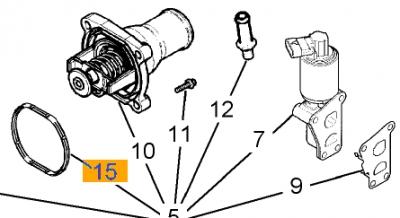 Garnitura termostat Opel Astra H 16