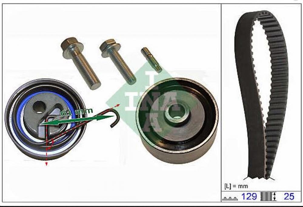Kit distributie Astra H Z17DTH INA