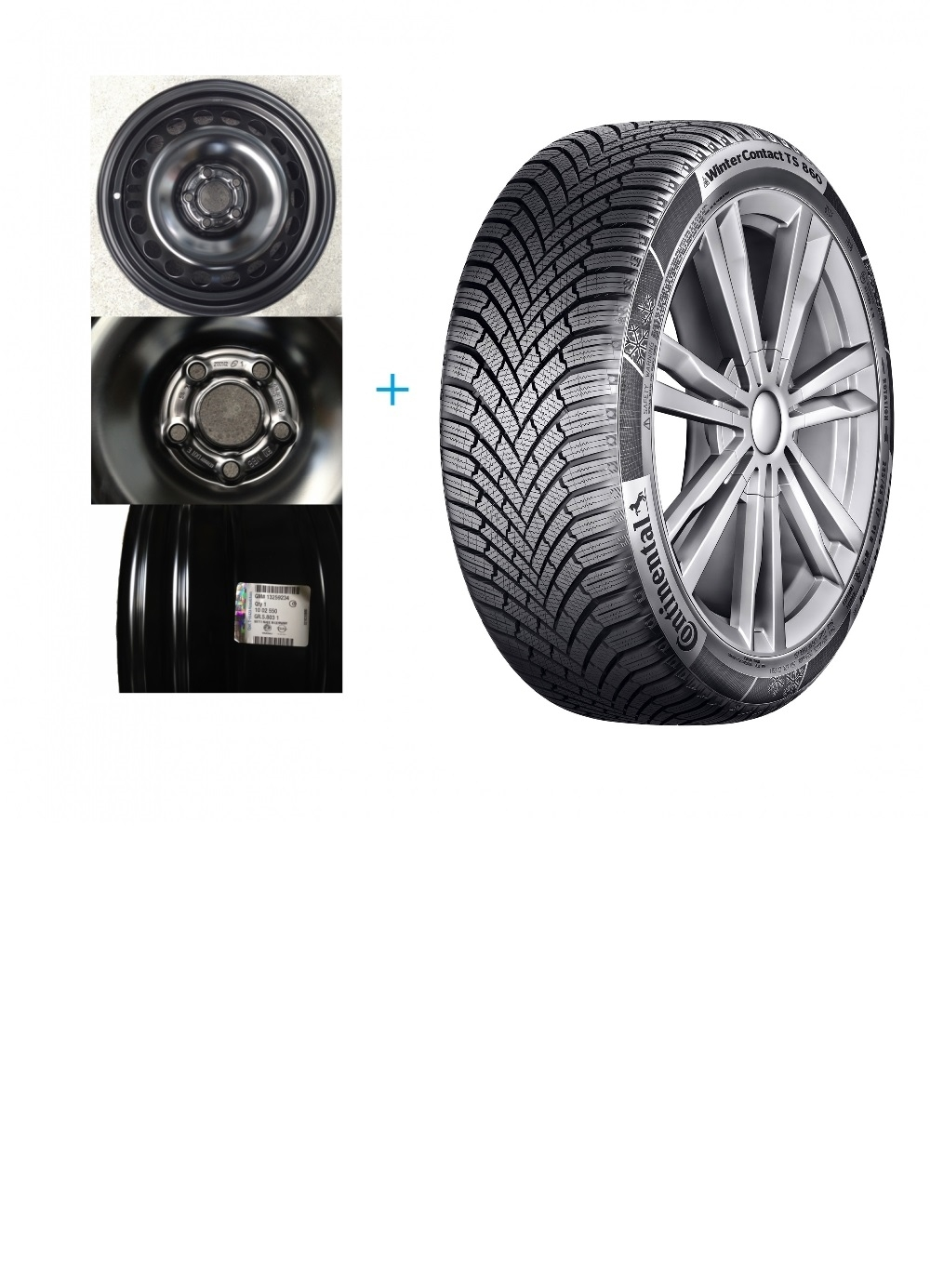 Kit janta Opel Astra K si anvelopa iarna 205/55/R16 Continental Winter Contact TS860 91H Piese auto Opel Astra K