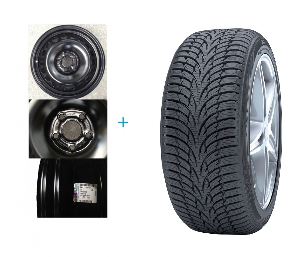 Kit janta Opel Astra K si anvelopa iarna 205/55/R16 NOKIAN WR D3 91H Piese auto Opel Astra K