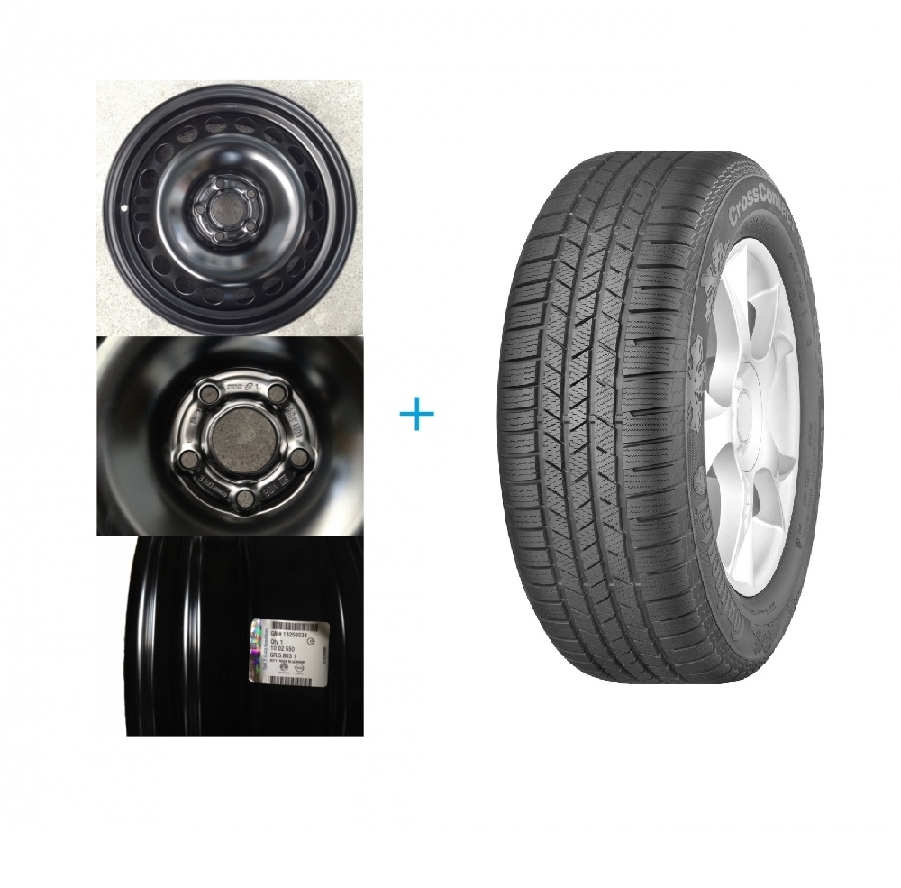 Kit janta si anvelopa Opel Mokka 215/65R16 CONTINENTAL CROSS CONTACT WINTER 88T 4X4 DOT 2016