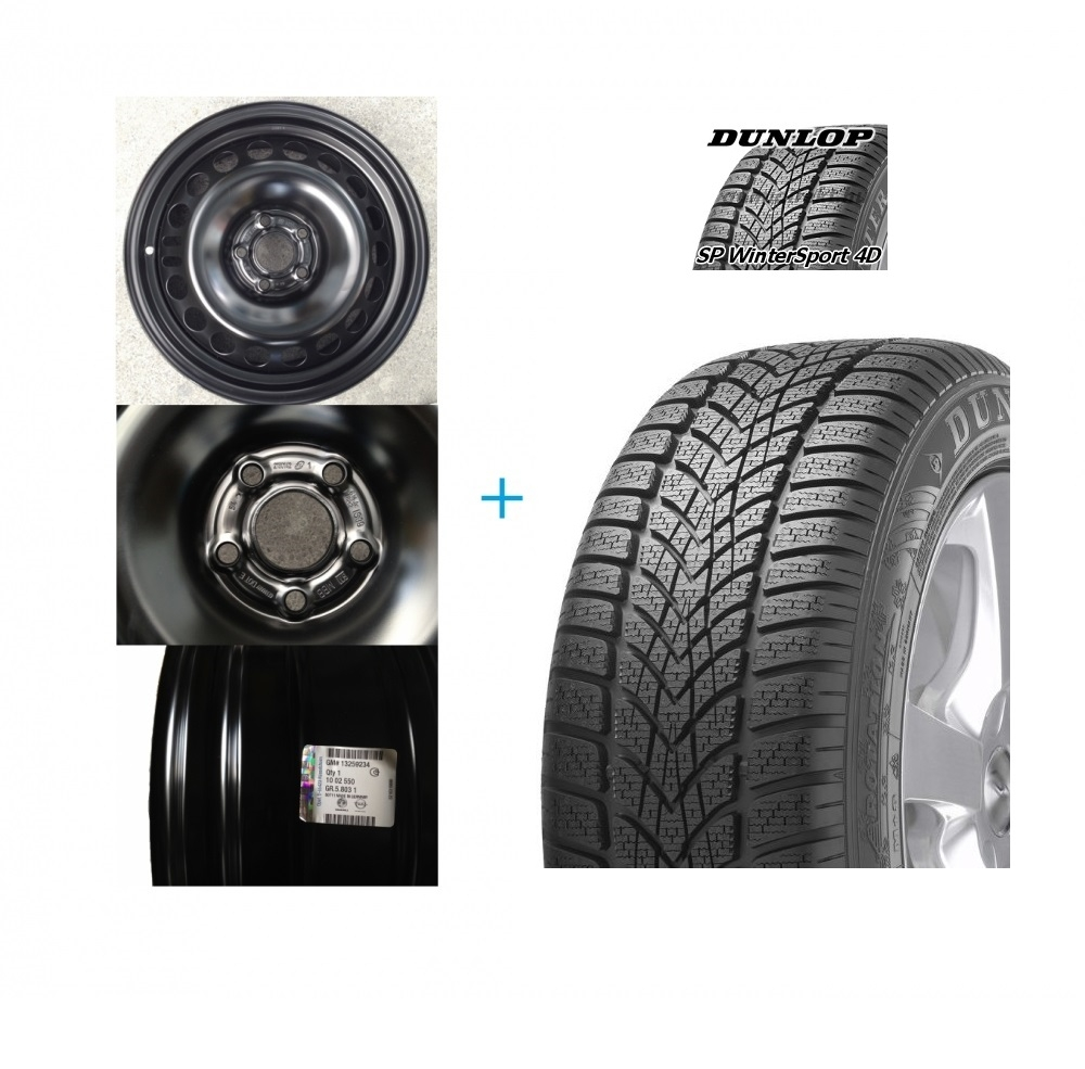 Kit janta si anvelopa Dunlop SP Winter Sport 4D 98T 215/65 R16 Opel Mokka DOT 2016