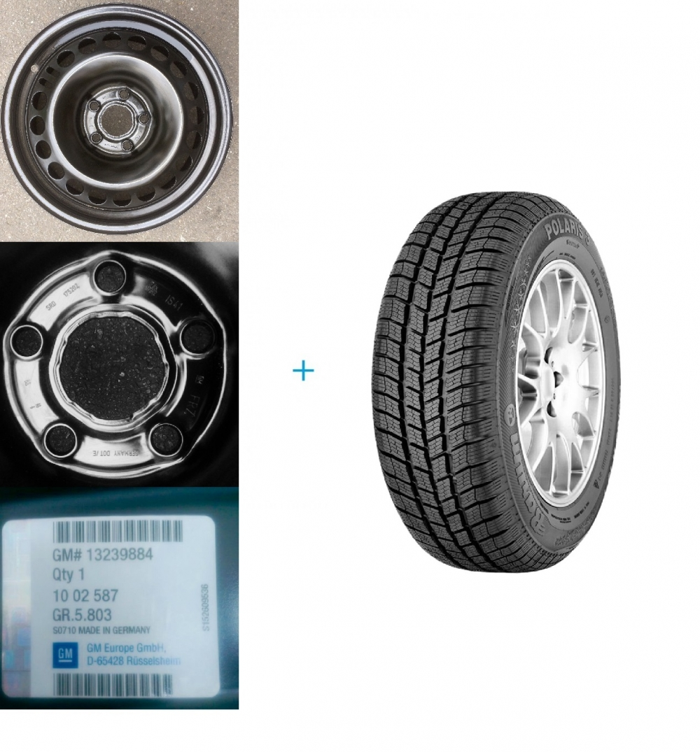 Kit Janta Si Anvelopa Iarna Opel Insignia 225/55 R17 Barum Polaris 3 101v Xl Dot 2016