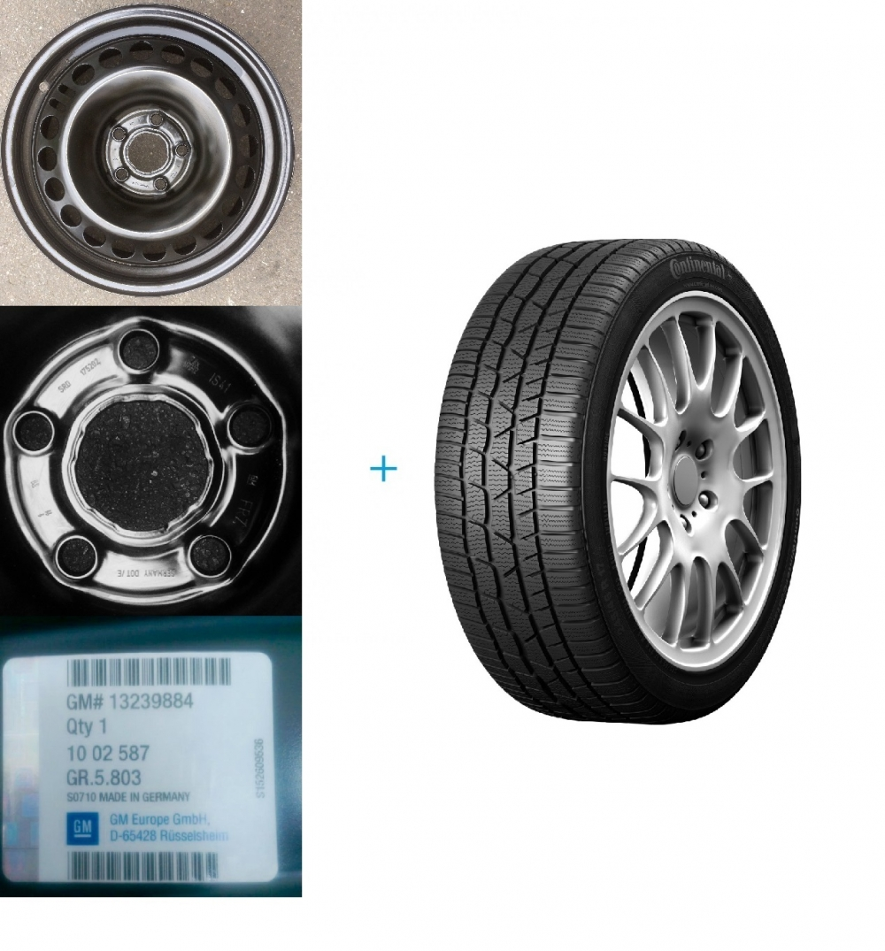 Kit janta si anvelopa iarna Opel Insignia CONTINENTAL 225/55/R17 101V XL WINTER CONTACT TS830P DOT 2016