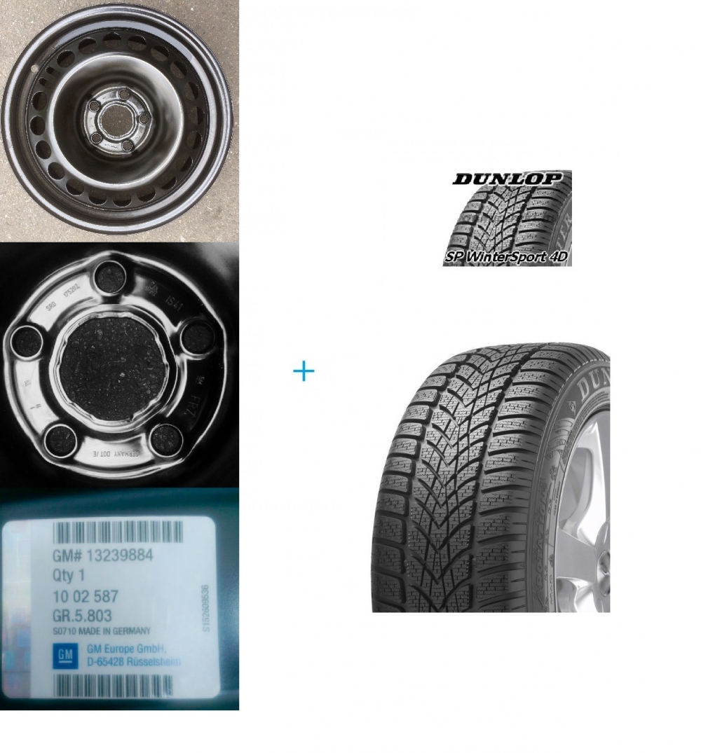 Kit janta si anvelopa iarna Opel Insignia Dunlop SP Winter Sport 4D 101V 225/55 R17 DOT 2018 Piese auto Opel Insignia A