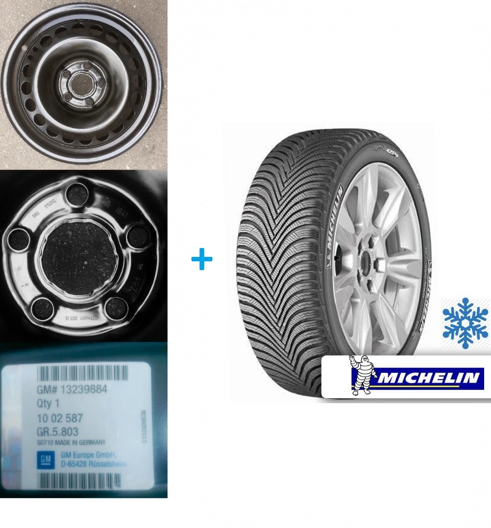 Kit janta si anvelopa iarna Opel Insignia Michelin Alpin A5 225/55 R17 101V XL DOT 2016