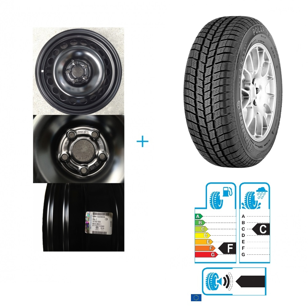 Kit janta si anvelopa Opel Mokka BARUM 215/65/R16 98H POLARIS 3 4X4 IARNA DOT 2016
