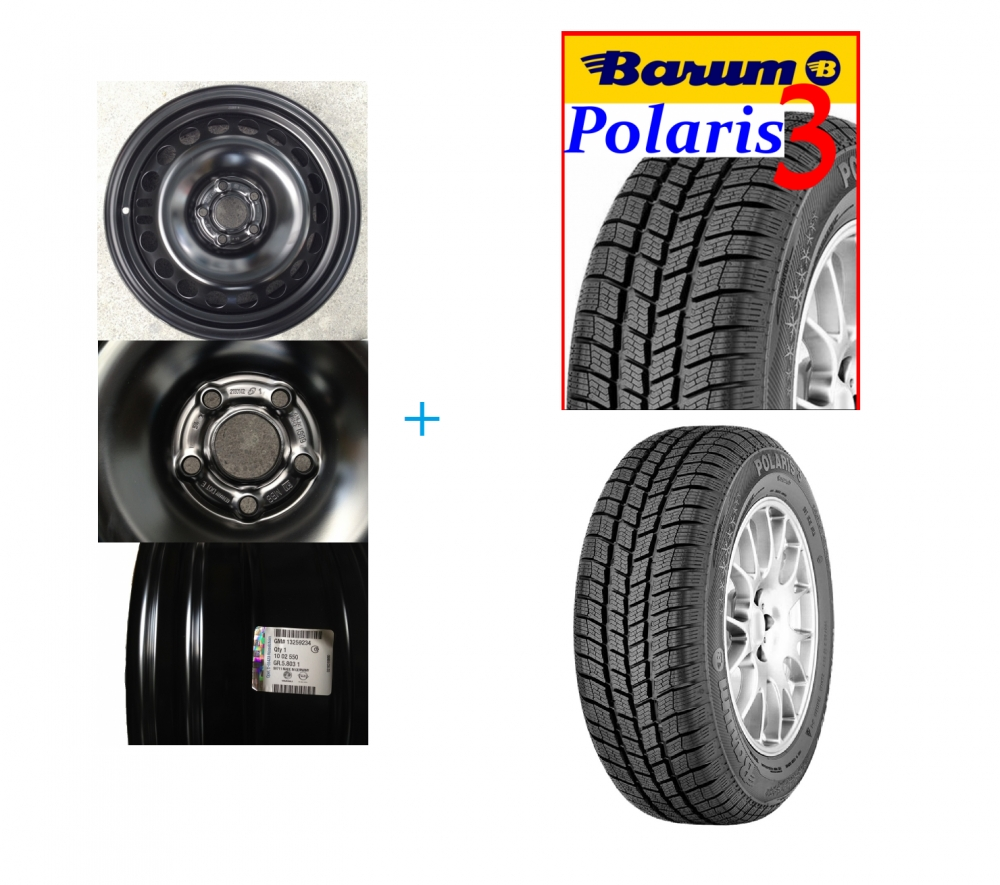 Kit janta si anvelopa Barum Polaris 3 205/60 R16 Opel Astra J benzina 5x105 DOT 2017