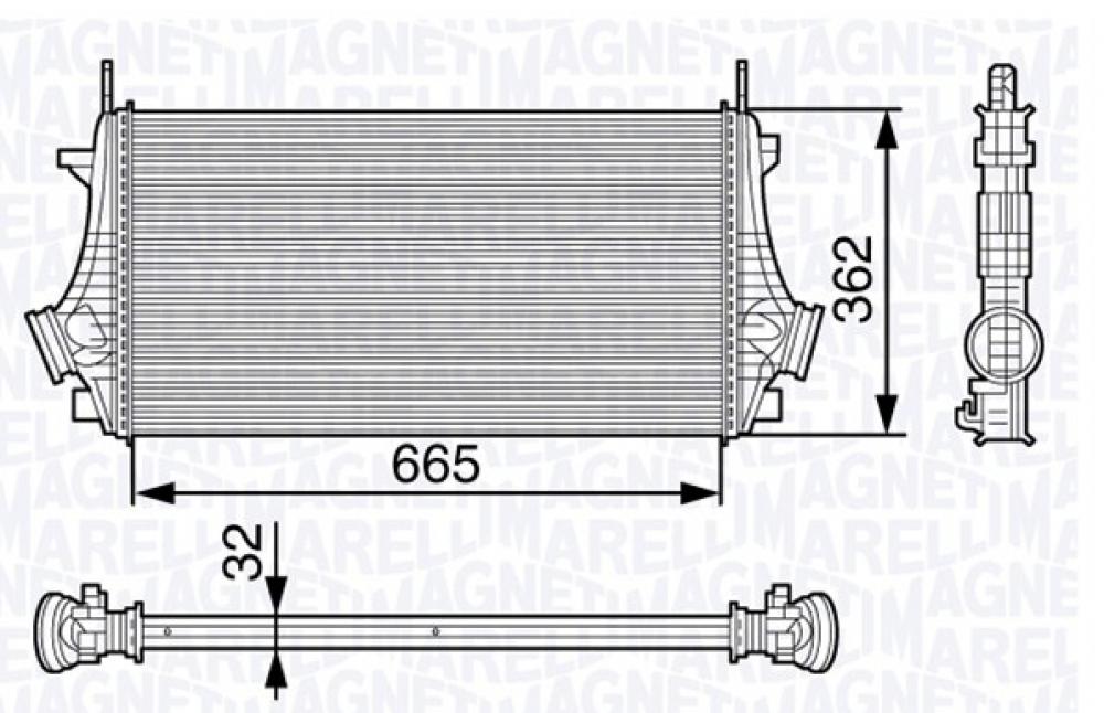 Radiator intercooler Opel Insignia producator Magneti Marelli