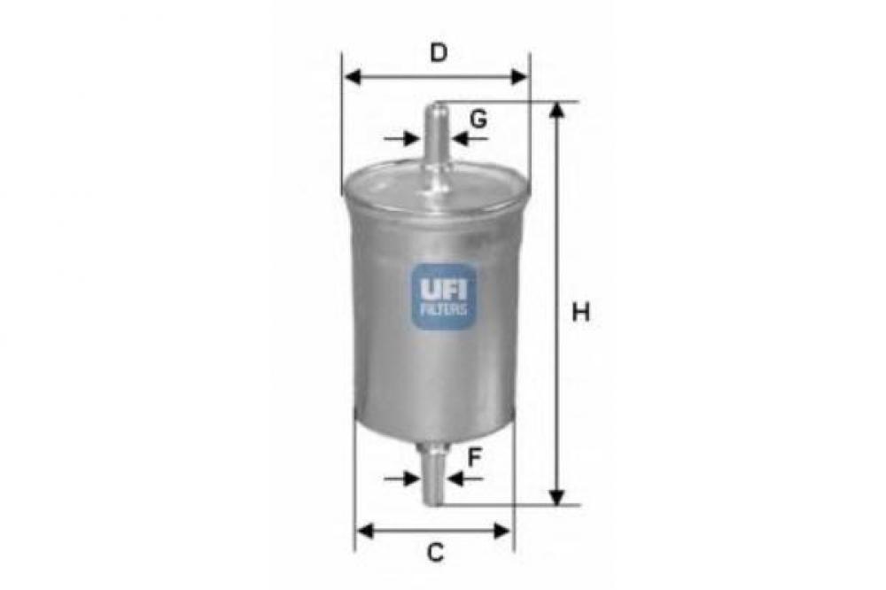 Filtru benzina Chevrolet Kalos/Aveo 1,2 1.4 UFI