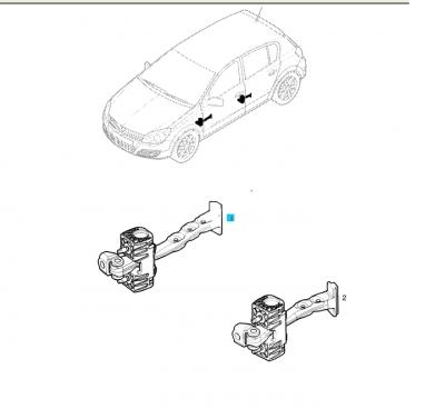 Opritor usa spate Opel Astra H GM