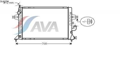 Radiator racire apa Opel Astra G producator AVA