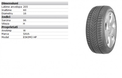 Anvelopa iarna Chevrolet Cruze Nokian WR D3 205/60/r16 Piese auto Chevrolet