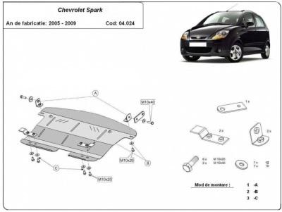 Scut motor metalic Chevrolet Spark