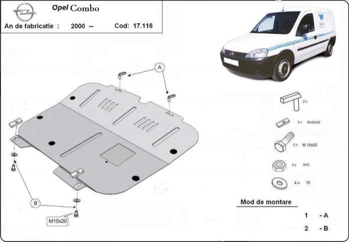 Scut motor metalic Opel Combo dupa 2000