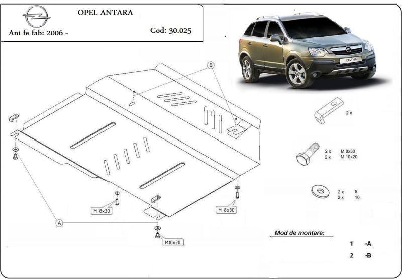 Scut Motor Metalic Opel Antara Dupa 2006
