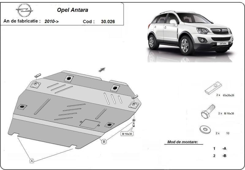 Scut motor metalic Opel Antara 2.4 fabricat dupa 2010