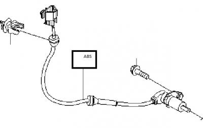 Senzor ABS spate stanga Chevrolet Kalos GM